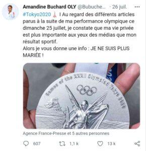 Amandine Buchard origine couple