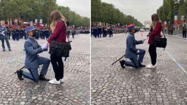 France militaire demande mariage